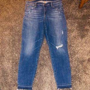 Gap Distressed True Skinny Jeans